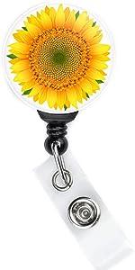 Sunflower Badge Reel