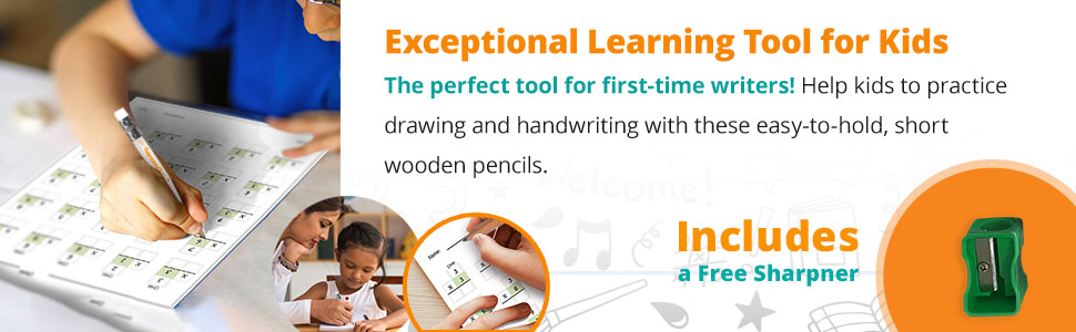 exceptional learning tool for kids, the perfect pencil for first time writers