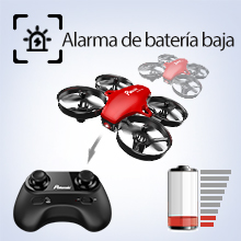 Potensic Mini Drone, RC Drone 2.4G 4 Canales 6-Axis Gyro, Quadcopter con Modo sin Cabeza, Altitud Hold, Alarma de Batería y Fuera de Rango y 3 Modos ...
