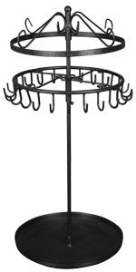 OROPY Giratorio Soporte de joyer/ía 8 Niveles Collares- Negro Almacenamiento de Estanter/ías Colgantes de Joyas para Pendientes Soporte Joyas Organizador de Metal con Fondo de Bandeja
