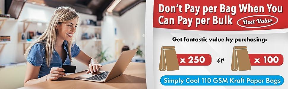 value purchase bulk paper kraft bag
