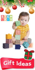 Mini Tudou Baby Blocks with Milestone Blocks & Mat