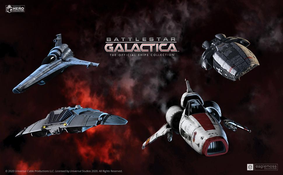galatica, galatica battleship, eaglemoss, eaglemoss hero collector