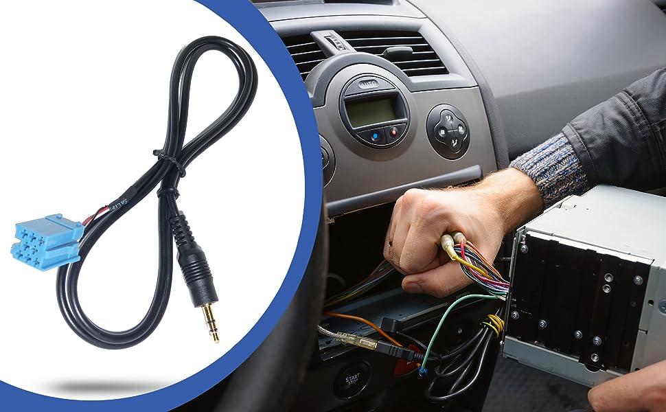 Auto Kfz Pkw Aux Line In Adapter Kabel Für Becker Apple Ipod Iphone Mp3 Player Auto