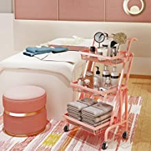 rolling storage cart with handle
