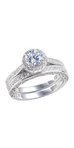 newshe wedding ring set for women