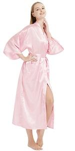satin long robes silk long robes for women