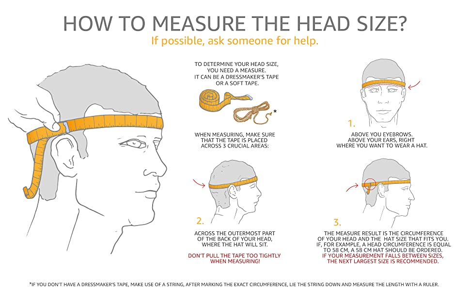head measure hat size sterkowski