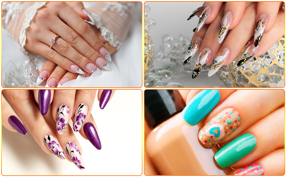 BQTQ nail art kit is practical and convenient, which can meet your various of nail art needs