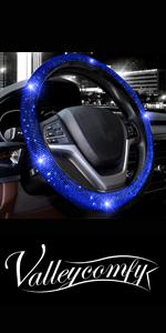steering wheel cover for women bling diamond crystal rhinestone sparkle glitter black blue