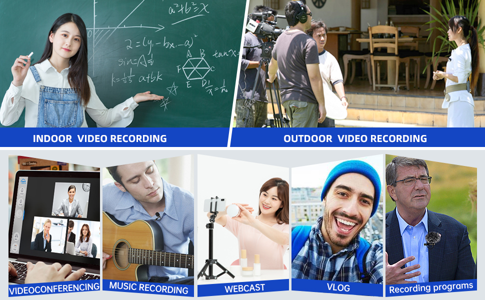 Multi-use for recording video making vlog