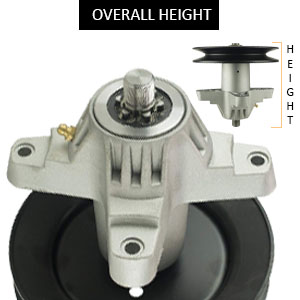 """5-3/4"""" Overall Height, 6-1/8"""" Pulley O.D, Grease fitting"""
