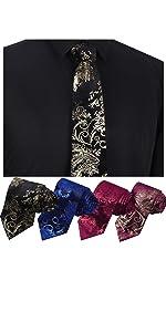 Mens Floral Dress Neck Tie