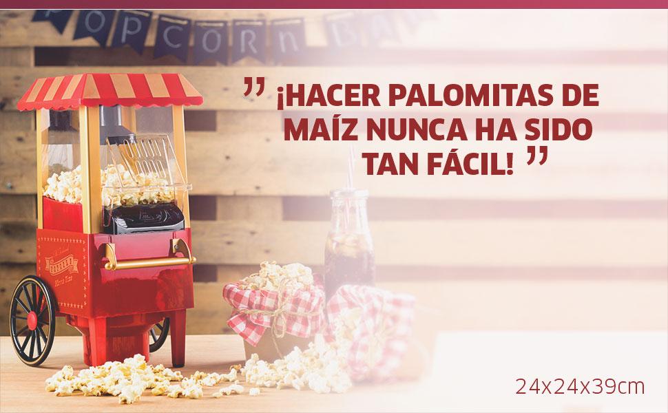 Gadgy Vintage Palomitero | Maquina de Palomitas | Aire Caliente ...