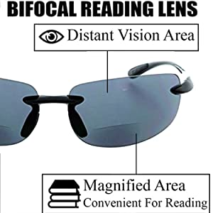 wrap around fix no line narrow face invisible  cool shades womens frameless eyeglasses tortoise bike