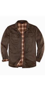 Mens Heavy Washed Rugged Shirt Jacket
