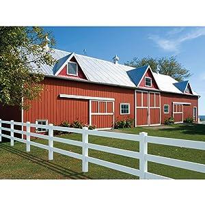 Amazon.com : Outdoor Essentials White Vinyl 2-Rail Ranch