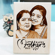 wooden engraved photo