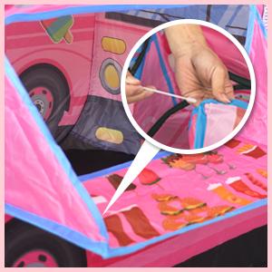 Rosa Buyger Tipi Spielzelt f/ür Kinder M/ädchen Prinzessin Eiscreme Eiswagen Spielhaus Kinderzelt mit Zwei Fenster 70cm Hoch Drau/ßen Camping Reisen