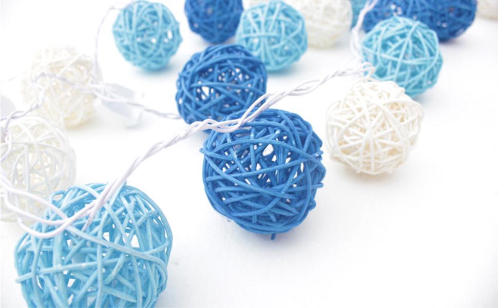 24PCS 2 Inch Wicker Ball Decorative Ball Orbs Vase Fillers DomeStar Rattan Ball