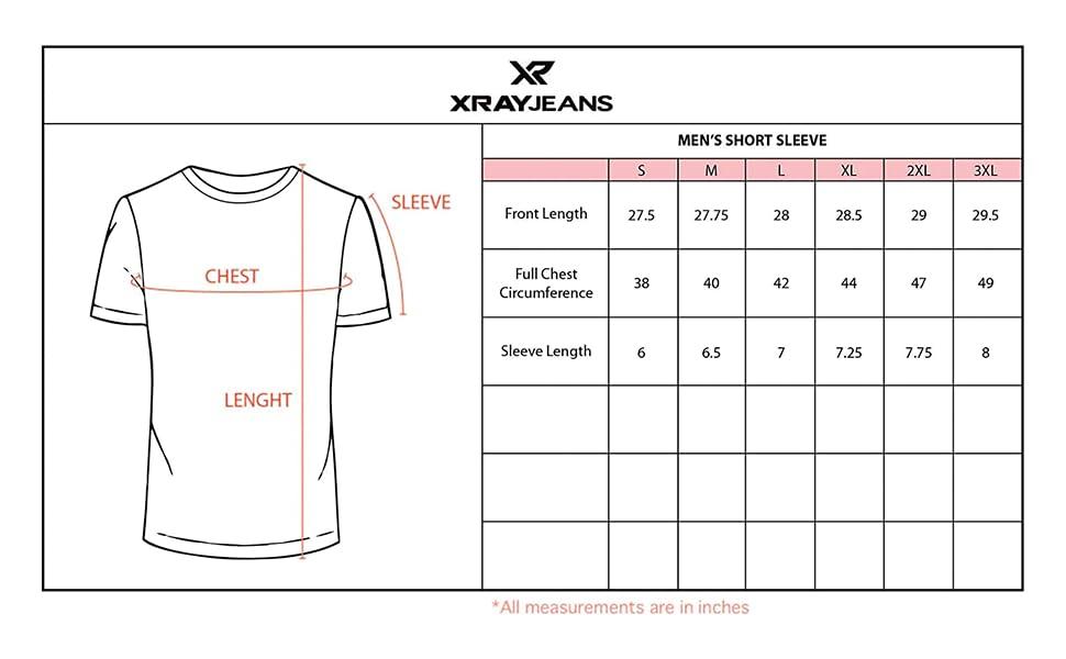 Men's T-Shirt Size