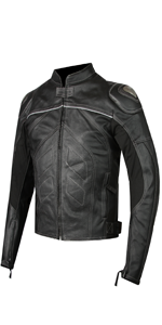 Summer Protective Motorcycle Leather Jacket