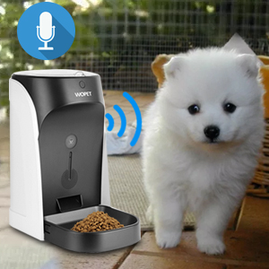 WOpet Automatic Cat Feeder, Pet Feeder Auto Dog Cat Feeder Stainless Steel Bowl,Portion Control & Voice Recording – Timer Programmable Up to 4 Meals a ...