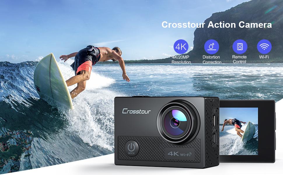 crosstour 4k action camera Christmas present gift  holiday vlog webcam