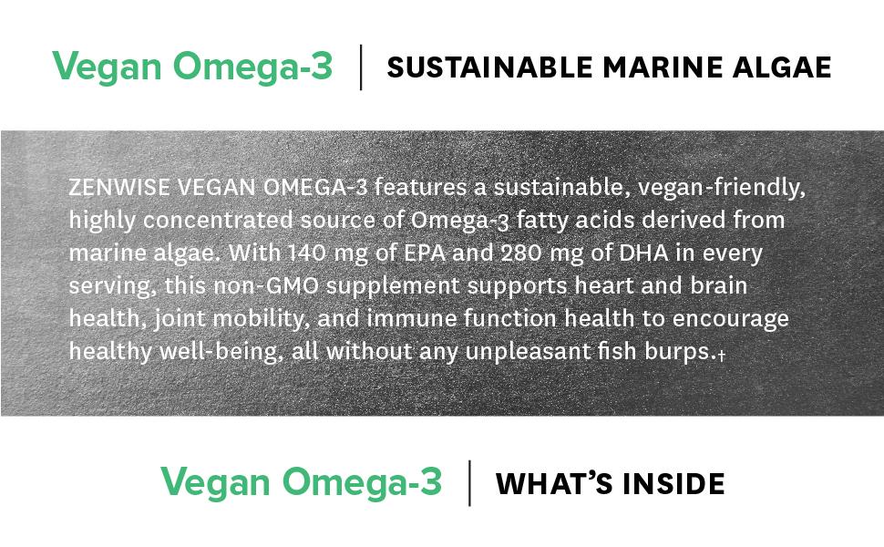 Vegan Omega-3 Sustainable Marine Algae