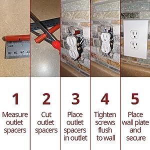 Outlet spacer easy steps