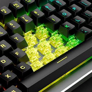 RedThunder Teclado Gaming K800 Modo de Iluminación Personalizada con retroiluminación RGB Colorida 12 Tipos de Funciones Multimedia Fáciles de Operar, ...