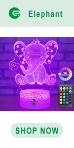 easuntec Elephant 3d led illusion lamp
