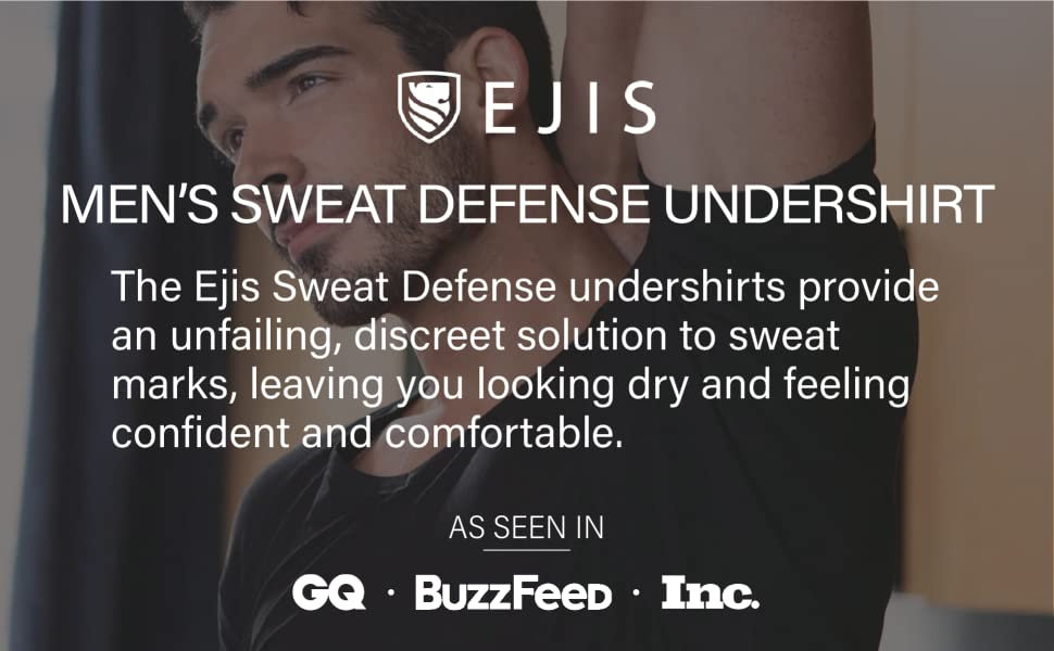 men sweat defense undershirt unfailing discreet solution marks dry feel comfortable all day