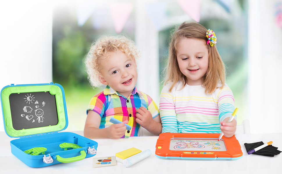 Drawing Easel Toddler Toys Drawing Board Games Doodle Kids Boys Toys Magic Pad Portable Drawing