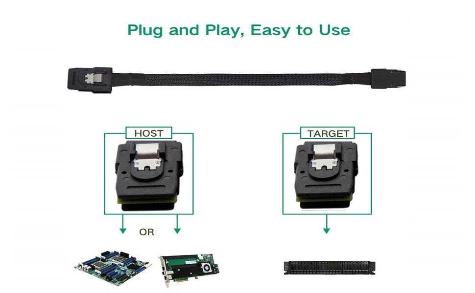 CableDeconn Mini sas36P SFF8087 Cable