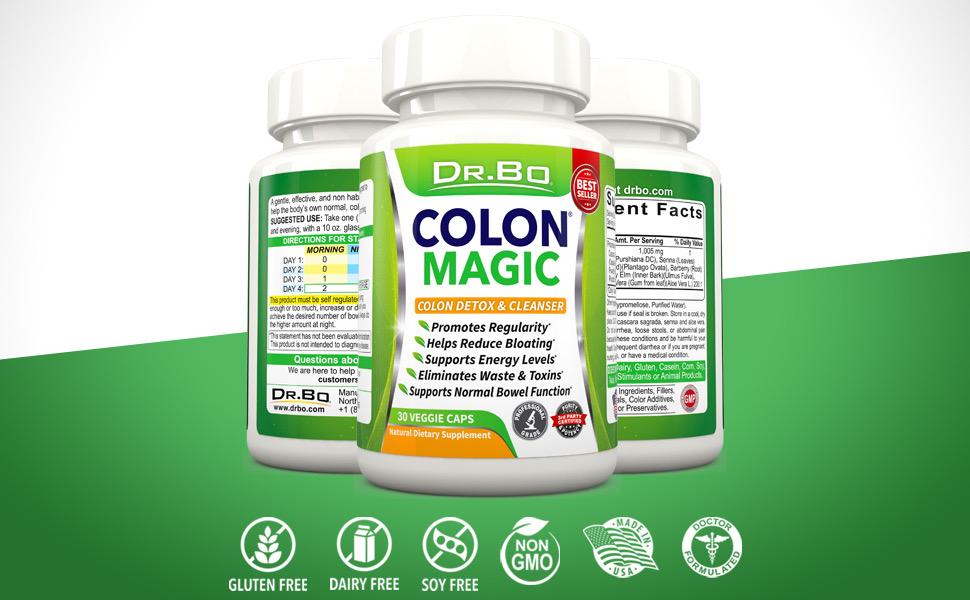 colon detox cleanse weight loss belly fat women men intestinal poop pills bowel movement pastillas