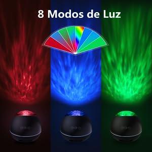 Lampara Proyector Océano Ola Bluetooth 5.0, Lámpara Proyector ...