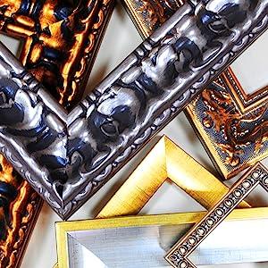 Barockleisten, Goldrahmen, Silberrahmen, klassischer Spiegelrahmen, Art-Deco-Spiegel, Standspiegel