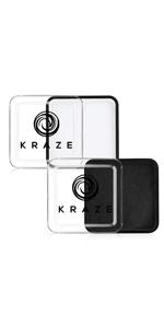 Kraze FX Black and White Face Paint Palette