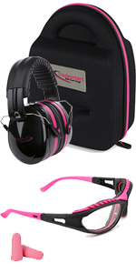 1 pack with Pink safety glasses
