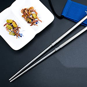 Outdoor Camping Tableware Titanium Alloy Chopsticks For Hiking Traveling U/_B1