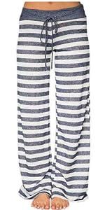 striped women lounge pants