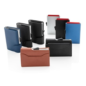Protection security wallet everyday wallet aluminium black brown camel leather synthetic