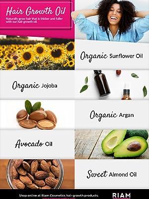 hair growth oil, castor, natural, stimulate, light, thicker, bald, organic, jojoba, enhance, regrow,