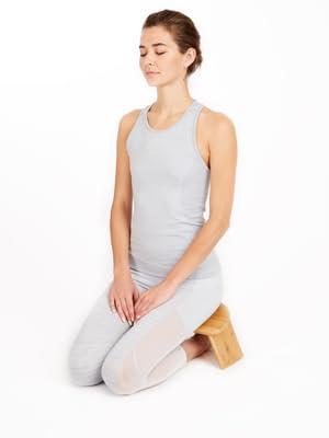 Bamboo Ergonomic Meditation Bench- Portable Design with Folding Legs