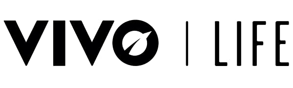 vivo life, logo, black letters on a white background. Producers of vegan protein powders
