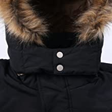 Buttons On Hood Help To Wrap Around The Neck To Keep Warm