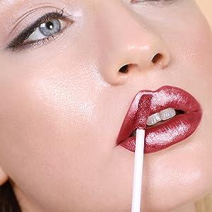 beautiful red matte liquid metallic lipstick all day wear hand sanitiser mask