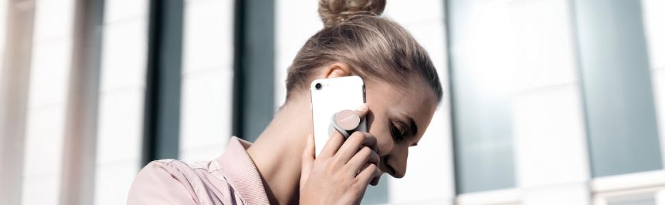 Compatibile con Tutti i dispositivi VONM/ÄHLEN Backflip Anello Porta Cellulare Magnetico in Nero tra Cui Tablet iPod o iPad Sostegno Anello per Auto