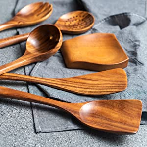 wood, wooden, color, teak, Healthy, re use, set, healthy, natural, non stick, cookware, enjoy